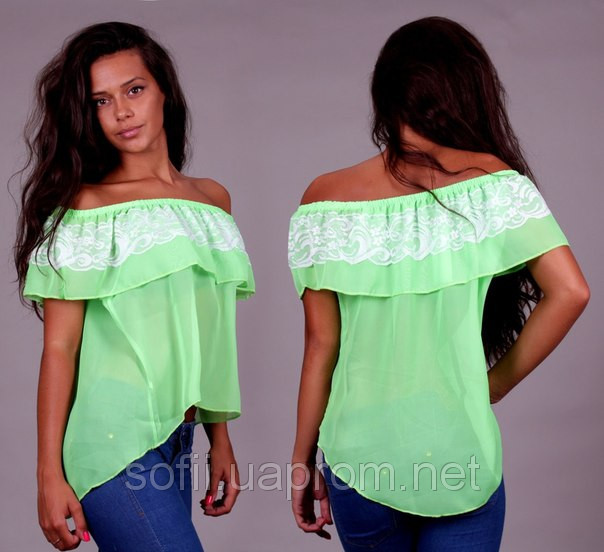 Сшить блузку с открытыми плечами 68